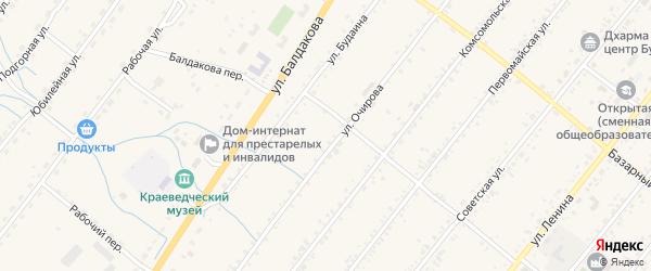 Улица Банзарова на карте села Курумкана с номерами домов