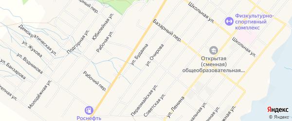 Карта села Курумкана в Бурятии с улицами и номерами домов