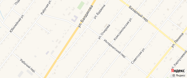 Улица Жукова на карте села Курумкана с номерами домов