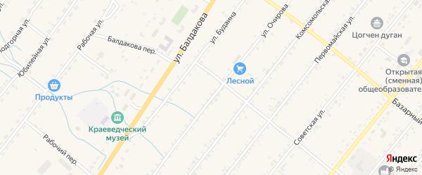 Трактовая улица на карте села Курумкана с номерами домов