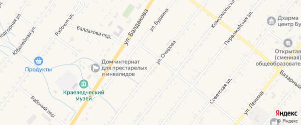 Октябрьский переулок на карте села Курумкана с номерами домов