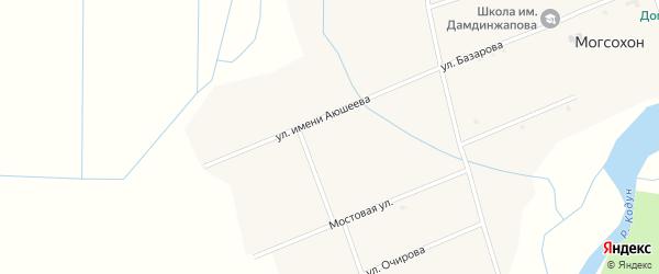 Улица Аюшеева на карте улуса Могсохон с номерами домов