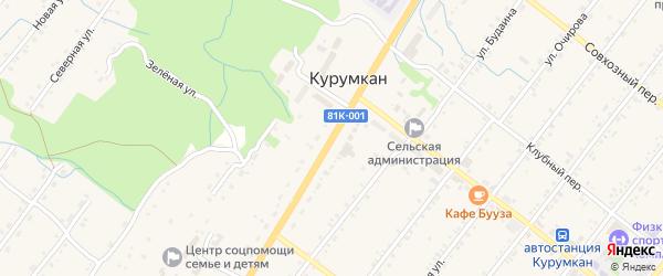 Улица Балдакова на карте села Курумкана с номерами домов