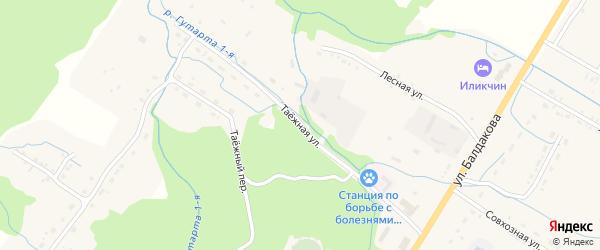 Таежная улица на карте села Курумкана с номерами домов