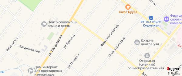Улица Очирова на карте села Курумкана с номерами домов