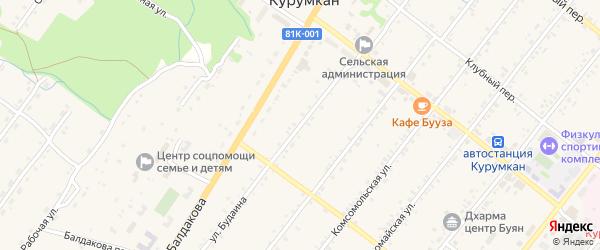 Улица Будаина на карте села Курумкана с номерами домов