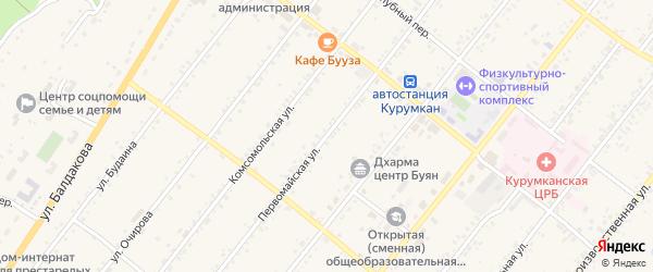 Первомайская улица на карте села Курумкана с номерами домов