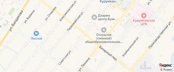 Базарный переулок на карте села Курумкана с номерами домов