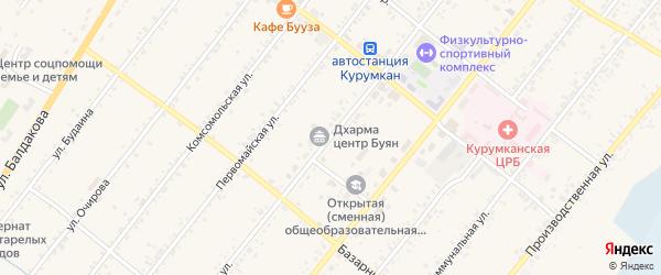 Советская улица на карте села Курумкана с номерами домов