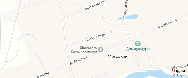 Школьная улица на карте улуса Могсохон с номерами домов