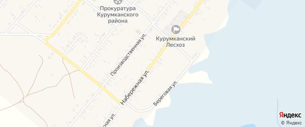 Набережная улица на карте села Курумкана с номерами домов
