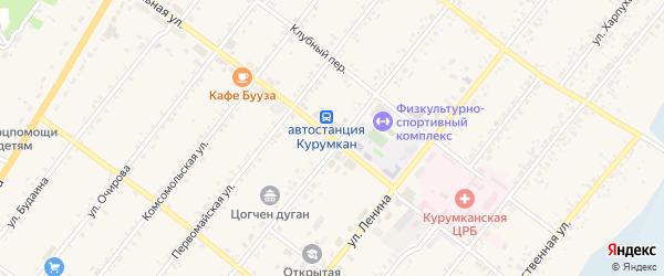 Школьная улица на карте села Курумкана с номерами домов
