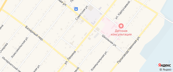 Улица Ленина на карте села Курумкана с номерами домов