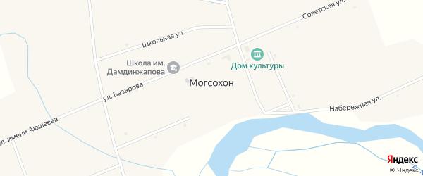 Лесная улица на карте улуса Могсохон с номерами домов