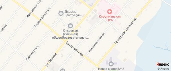 Улица Харпухаевой на карте села Курумкана с номерами домов