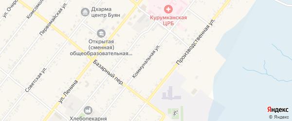 Коммунальная улица на карте села Курумкана с номерами домов