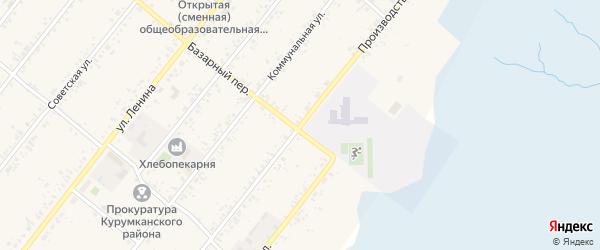 Производственная улица на карте села Курумкана с номерами домов