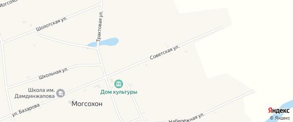 Советская улица на карте улуса Могсохон с номерами домов