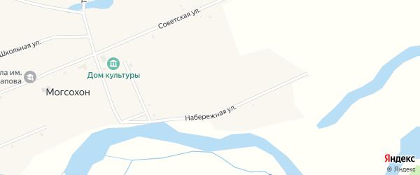 Набережная улица на карте улуса Могсохон с номерами домов