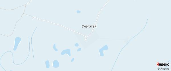 Карта улуса Унэгэтэй в Бурятии с улицами и номерами домов
