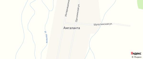 Интернациональная улица на карте улуса Амгаланта с номерами домов