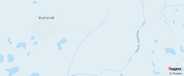 Карта заимки Унэгэтэй в Бурятии с улицами и номерами домов