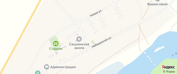 Школьная улица на карте села Сахули с номерами домов