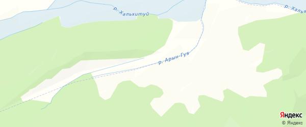 Карта заимки Гурт Шулуута Гуя в Бурятии с улицами и номерами домов