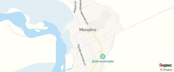 Карта села Могойто в Бурятии с улицами и номерами домов
