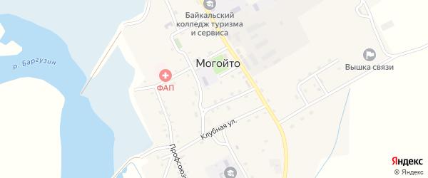 Комсомольская улица на карте села Могойто с номерами домов