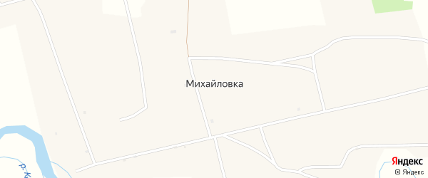 Береговая улица на карте села Михайловки с номерами домов