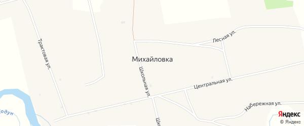 Сплавная улица на карте села Михайловки с номерами домов