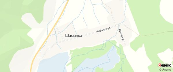 Карта поселка Шаманки в Бурятии с улицами и номерами домов
