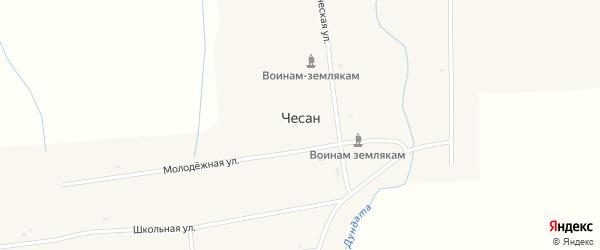 Совхозная улица на карте улуса Чесан с номерами домов