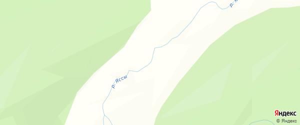 Карта заимки Ясс в Бурятии с улицами и номерами домов