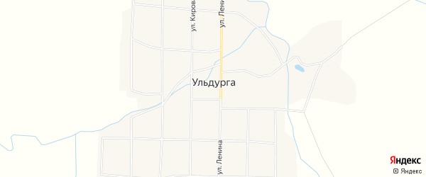 Местность Дабата на карте села Ульдурги с номерами домов