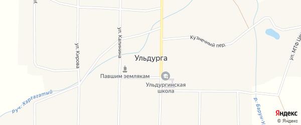 Улица Калинина на карте села Ульдурги с номерами домов