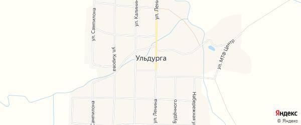 Местность Зун-Хул на карте села Ульдурги с номерами домов