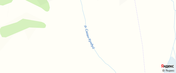 Карта заимки Гурта Сагана Хундуй в Бурятии с улицами и номерами домов