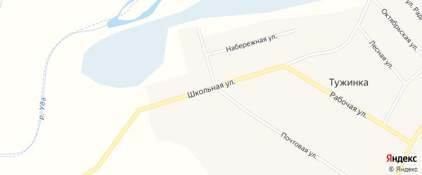 Школьная улица на карте поселка Тужинки с номерами домов