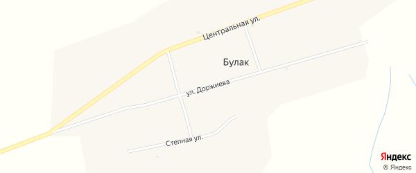 Улица Доржиева на карте улуса Булак с номерами домов