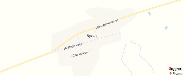Карта улуса Булак в Бурятии с улицами и номерами домов