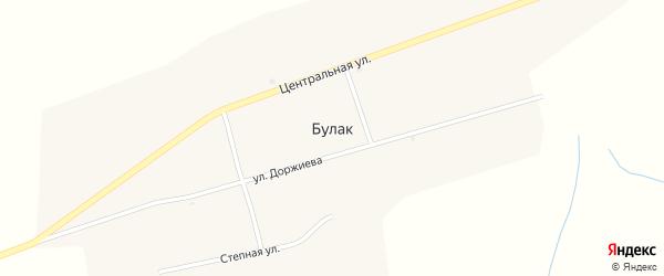 Степная улица на карте улуса Булак с номерами домов
