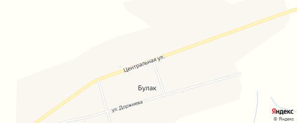 Центральная улица на карте улуса Булак с номерами домов