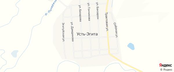 Местность Маракта на карте улуса Усть-Эгита с номерами домов