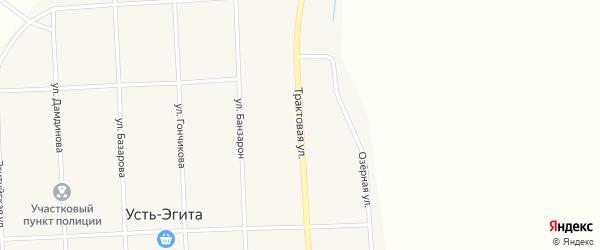 Трактовая улица на карте улуса Усть-Эгита с номерами домов