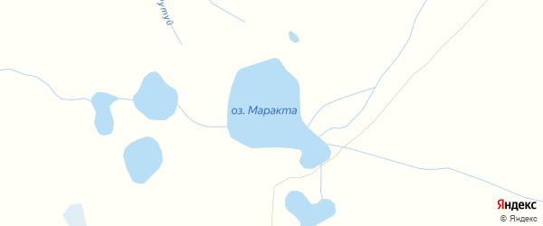 Карта заимки Маракты в Бурятии с улицами и номерами домов