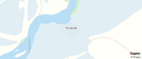 Карта улуса Угнасай в Бурятии с улицами и номерами домов