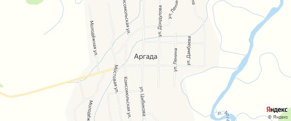 Местность Баруун-Эе заимка на карте улуса Аргада с номерами домов