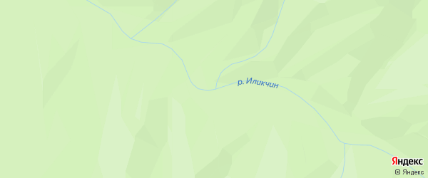 Карта заимки Иликчина в Бурятии с улицами и номерами домов